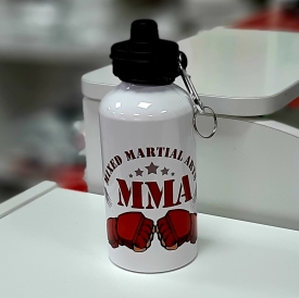 Бутылка для воды, металл, MMA