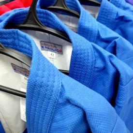 Куртка для самбо, синяя (36-56)