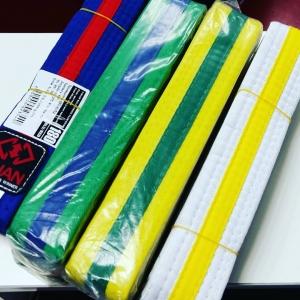 Двухцветные пояса для Taekwondo