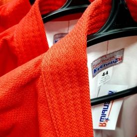 Куртка для самбо, красная (36-56)