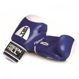 Кикбоксерские перчатки TIGER 10oz кожа синие