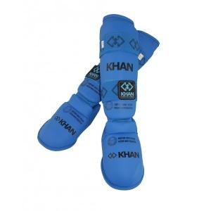Защита голени и стопы каратэ ФКР, синяя