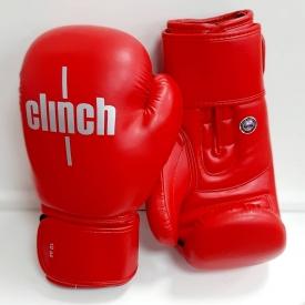 Перчатки боксерские OLIMP plus, кожа, красные, 10oz